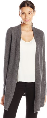 Lark & Ro Amazon Brand Women's 100% Cashmere Soft Drapey Open Front Cardigan Sweater
