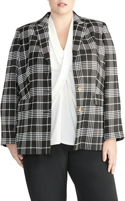 Rachel Roy Plaid Blazer (Plus Size)