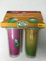 Playtex Playtime Girls Insulated Spoutless Cups, 2 Count (Colors May Vary)