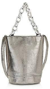 Nancy Gonzalez Women's Small Jojo Metallic Lizard & Python Bucket Bag