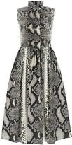 Prada Printed Sleeveless Pussy Bow Dress