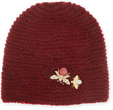 Jennifer Behr Abeilla Cashmere Beanie Hat, Ruby