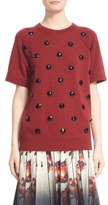 Marc Jacobs Faceted Button Short Sleeve Sweater