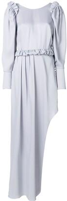 Magda Butrym long ruffle-detail dress