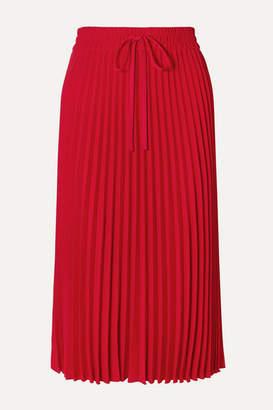 RED Valentino Pleated Crepe Midi Skirt - IT36