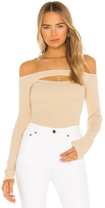 Lovers + Friends Cut Out Off Shoulder Top