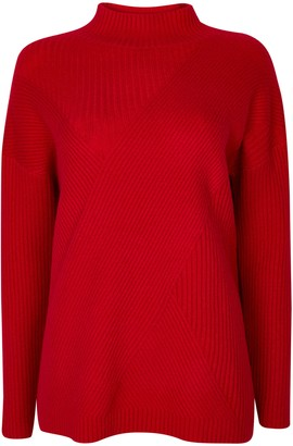 Wallis **TALL Red Ribbed Jumper