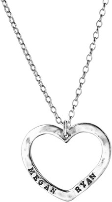 Or Paz Sterling Personalized Heart Pendant w/Chain