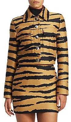 Proenza Schouler Women's Cropped Tiger Print Jacket