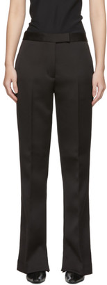 3.1 Phillip Lim Black Satin Structured Trousers