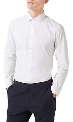Jigsaw Italian Poplin Slim Fit Shirt, White
