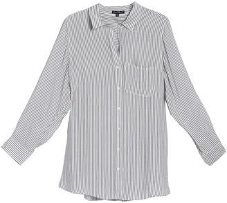 Velvet Heart Elisa Striped Roll Sleeve Shirt (Plus Size)
