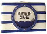 Kate Spade Beware of Sharks Convertible Emanuelle Leather Clutch Make a Splash