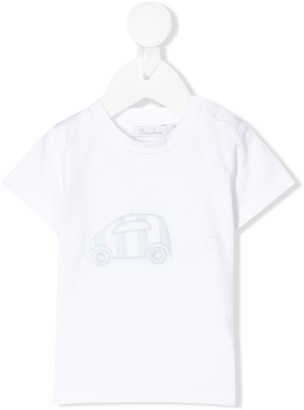 Patachou car-embroidered T-shirt