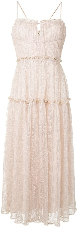 Jonathan Simkhai Ivy smocked midi dress