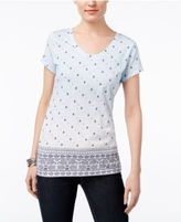 Style&Co. Style & Co Cotton Printed T-Shirt, Created for Macy's