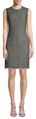 Rebecca Taylor Sleeveless Tweed Sheath Dress