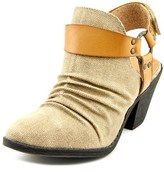 Blowfish Santi Women Round Toe Canvas Tan Bootie.