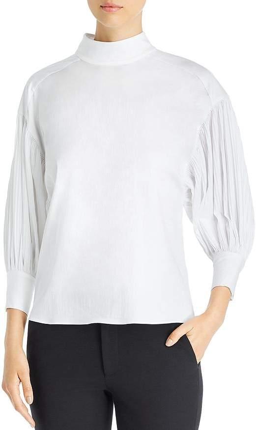 Kate Spade Dolman Sleeve Micro-Pleat Top
