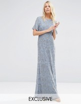 Needle & Thread Linear Flower Maxi Dress