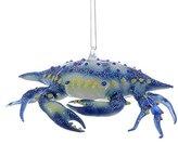 Kurt Adler Noble Gems Glass Blue Crab Ornament, 5-Inch