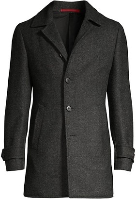 Isaia Classic-Fit Wool Overcoat
