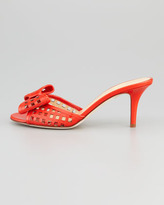 Kate Spade Mailyn Patent Cutout Slide, Orange