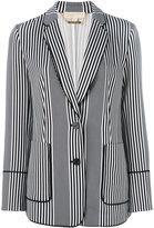 MICHAEL Michael Kors striped blazer - women - Polyester/Spandex/Elastane - 4