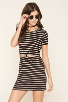 Forever 21 Stripe Cutout-Front Dress