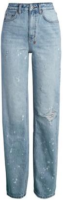 Ksubi Playback High-Rise Straight-Leg Distressed Jeans
