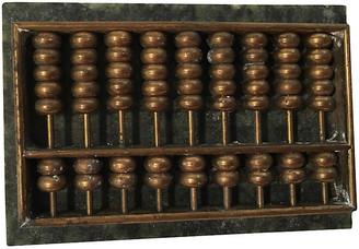 One Kings Lane Vintage Marble & Bronze Desk Abacus