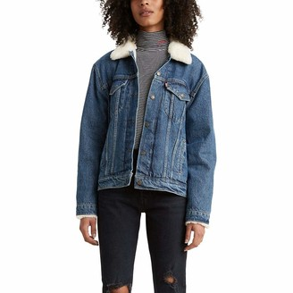 Levi's Women's Fur Collar Ex-Boyfriend Trucker Jackets