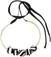Marni zebra pattern necklace