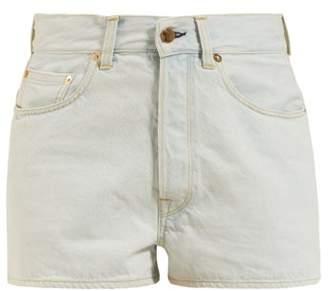 Golden Goose Judy High-rise Denim Shorts - Womens - Light Denim