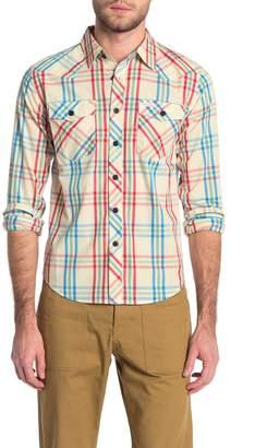 Topo Designs Western Plaid Long Sleeve Shirt (Size Medium)