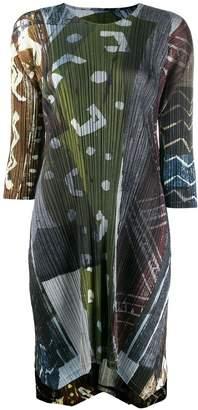 Pleats Please Issey Miyake long tunic top