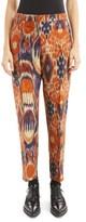 Dries Van Noten Women's Ikat Jacquard Ankle Trousers