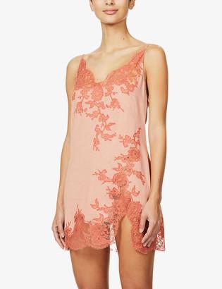 Marjolaine Lettie floral silk-blend jersey chemise