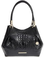 Brahmin 'Judith' Croc Embossed Leather Hobo - Black