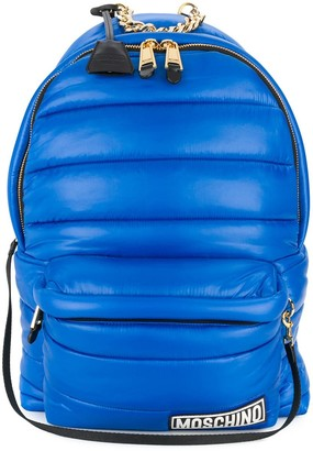 Moschino Hood Detailed Padded Backpack