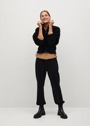 MANGO Elastic waist trousers