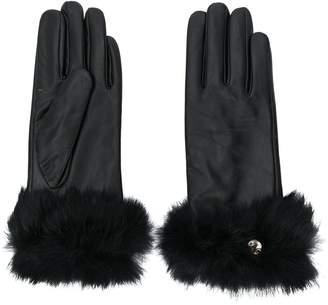 Liu Jo faux fur trimmed gloves