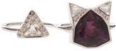 Ca&Lou CA & LOU Silver Shade&Crystal Kat Ring