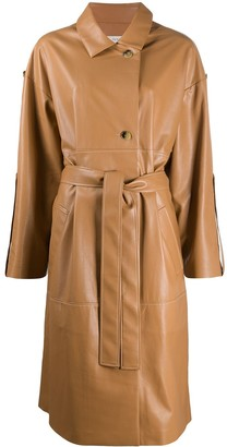 Áeron Faux Leather Trench Coat