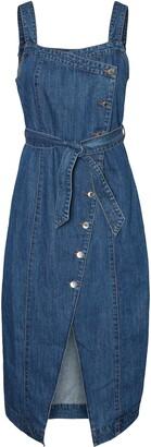 Vero Moda Yasemin Wrap Front Denim Dress