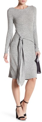 Couture Go Long Sleeve Front Tie Dress