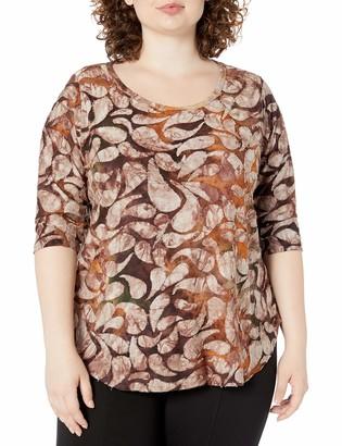 Karen Kane Women's TIE-DYE Burnout Shirttail TEE X-Large