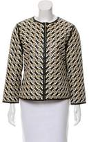 Escada Leather Patterned Jacket w/ Tags
