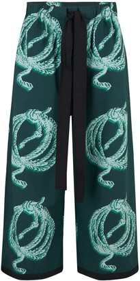 Klements Sailor Pants In Ropes Print