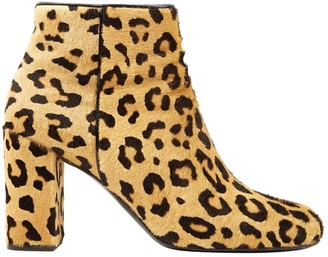 Saint Laurent Beige Pony-style calfskin Boots